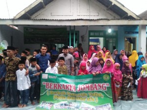 Dokumentasi santunan BERKARYA wilayah Jombang Januari 2019