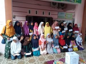 Foto dokumentasi santunan yayasan berkarya cabang Palembang