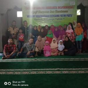 Foto Dokumentasi Kegiatan Santunan Yayasan Berkarya Cabang Bojonegoro