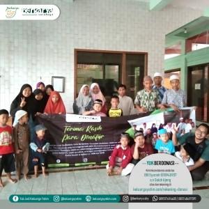 Foto dokumentasi santunan yayasan berkarya cabang Surabaya wilayah Gebang Keputih